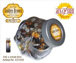 2-Phasen Melanin Öl Golden Brown 6 ml /100 Stück
